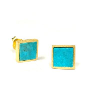 Planos Turquoise Stud Earrings