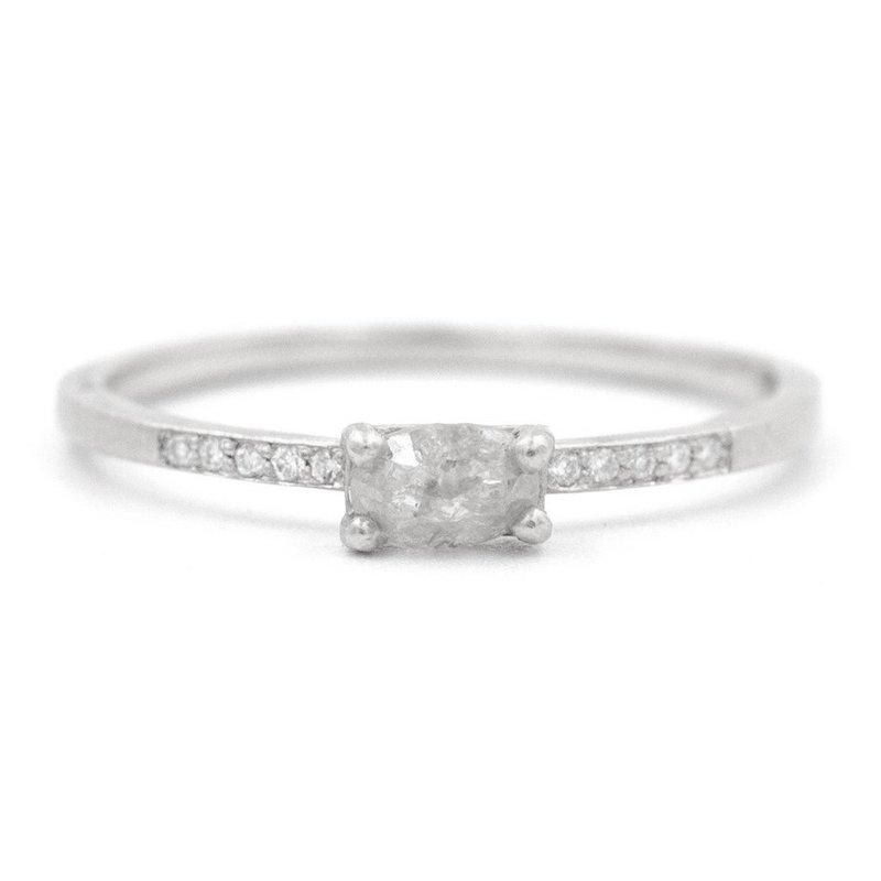 Jennifer Dawes Design Stacking Oval Opaque Rose Cut Diamond Ring