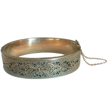 Black Enamel Gold Bangle