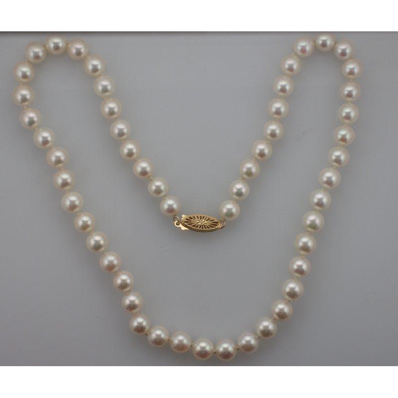 "Antique, Estate & Consignment Cultured Pearl Strand 15.5"""