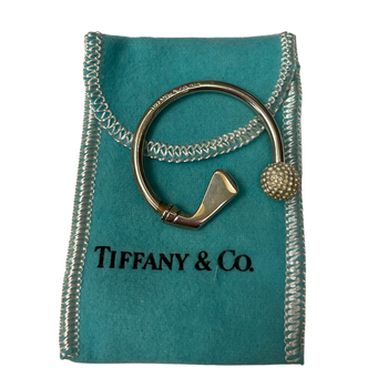 Tiffany & Co Stamped Silver Golf Key Ring