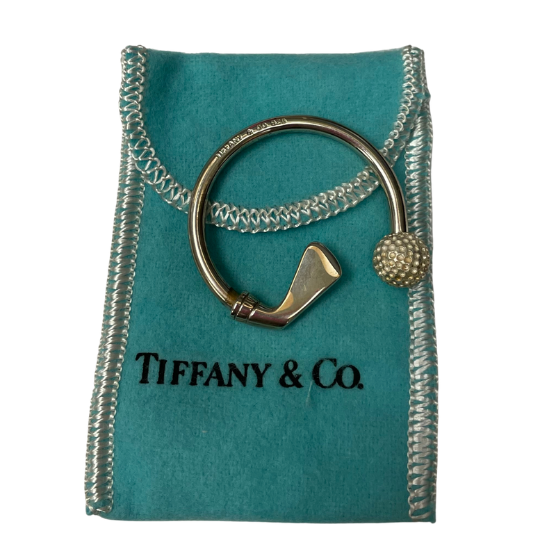 Antique, Estate & Consignment Tiffany & Co Stamped Silver Golf Key Ring
