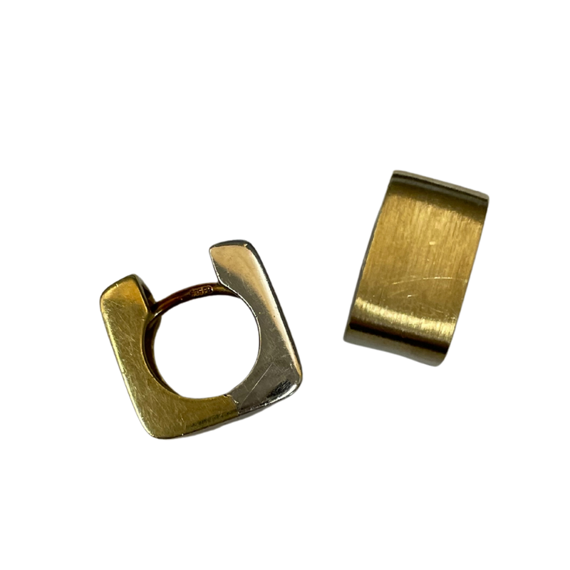 Antique, Estate & Consignment 14k Two Tone Huggie Earrings
