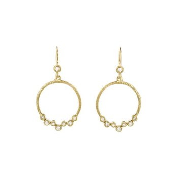 Diamond Scatter Circle Earrings