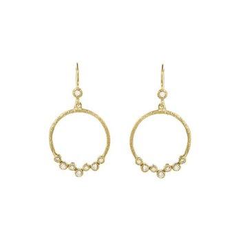 Diamond Scatter Circle Earrings