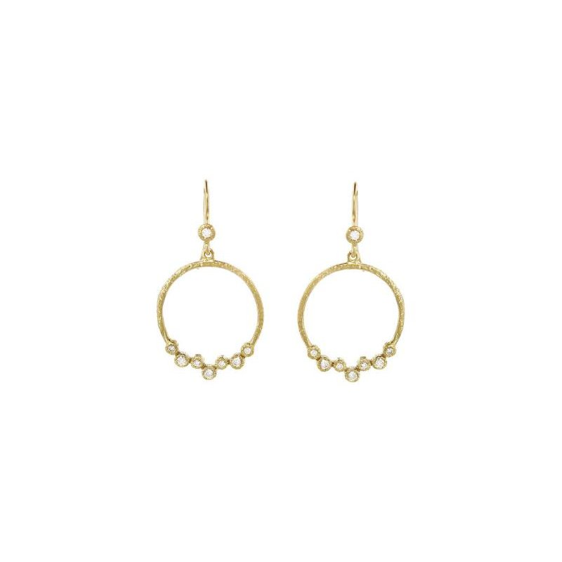 Yasuko Azuma Jewelry Diamond Scatter Circle Earrings