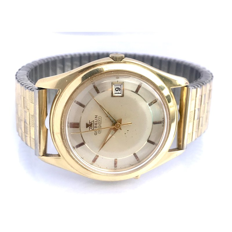 Antique, Estate & Consignment Gubelin Ipso Day Gold Plated Watch