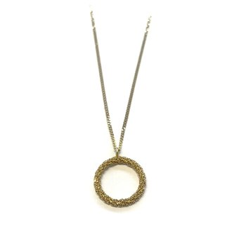 Gold Circle Necklace Small