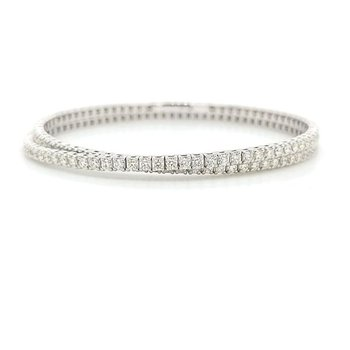Double Wrap Diamond Tennis Bracelet