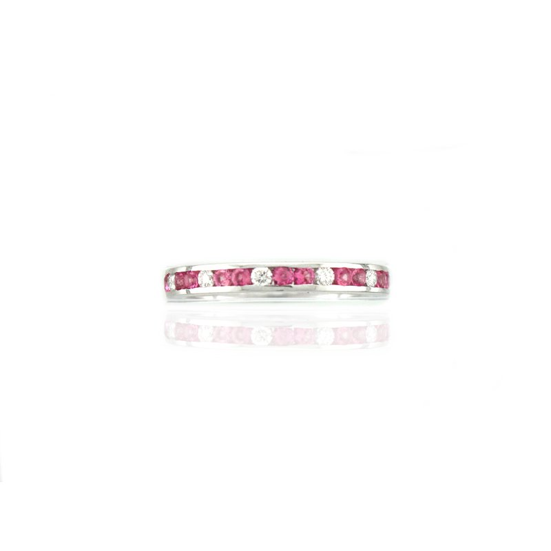 Antique, Estate & Consignment Pink Sapphire & Diamond Eternity Band