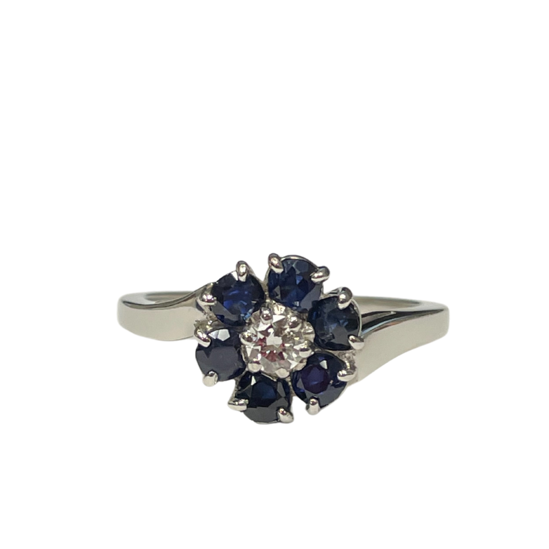 Antique, Estate & Consignment Sapphire & Diamond Cluster Ring