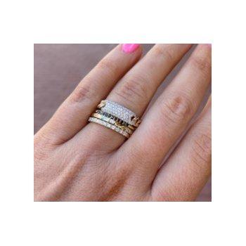 Chain Link Diamond ID Ring