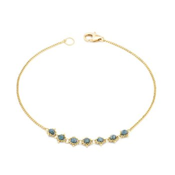 Petite Textile Bracelet in Blue Diamond