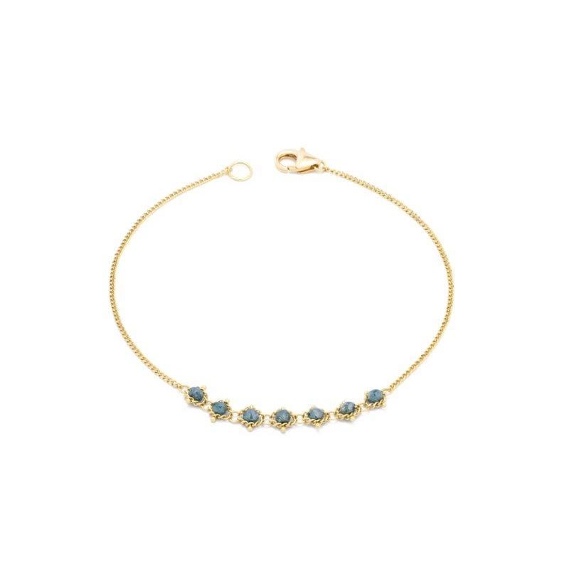 Amali Petite Textile Bracelet in Blue Diamond