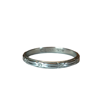 10k Engraved Wedding Band