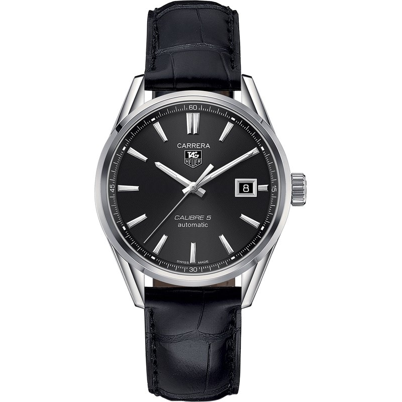 TAG Heuer Carerra Calibre 5 Automatic - 39mm Black Dial
