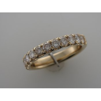 Diamond Split Prong Wedding Band