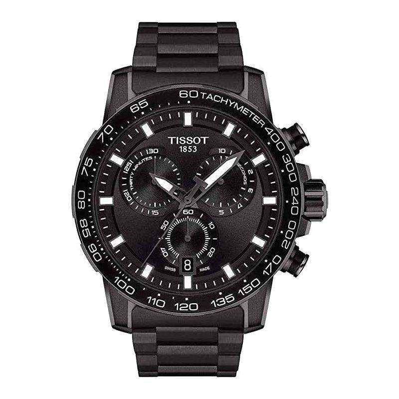 Tissot Supersport Chronograph Black Dial & Black Steel