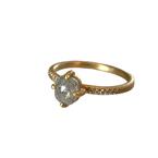 Yasuko Azuma Jewelry Grey Diamond Ring