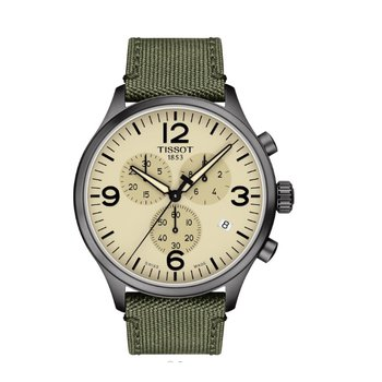 Chrono XL Tan Dial Green Strap