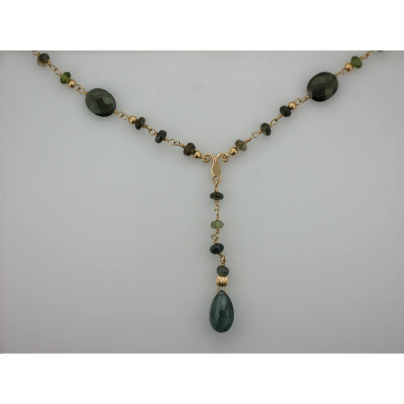 Antique, Estate & Consignment Green Tourmaline Beaded Necklace