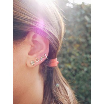 Diamond Rainbow Stud Earring