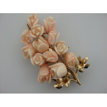 Floral Coral Pin
