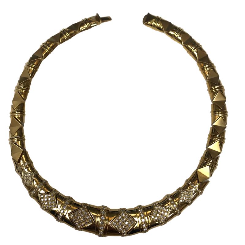 Antique, Estate & Consignment Diamond Bib Link Necklace