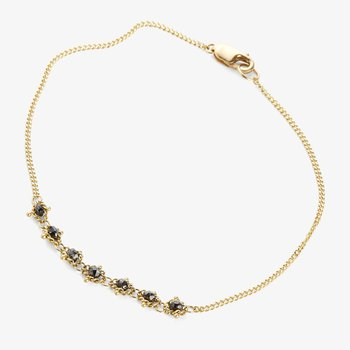 Champagne Diamond Textile Bracelet