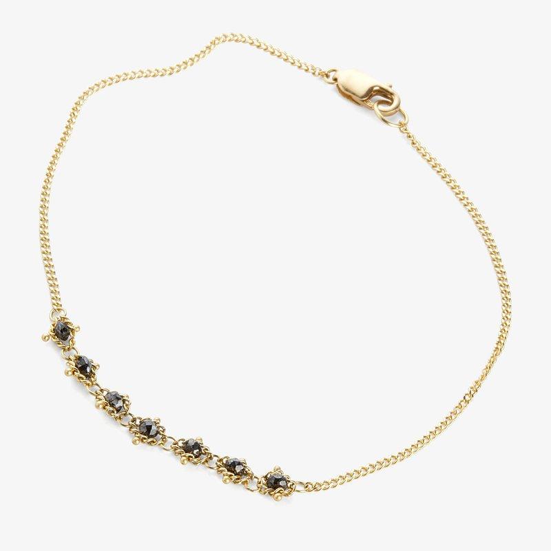 Amali Champagne Diamond Textile Bracelet