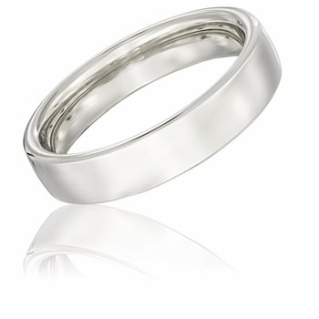 14k White Gold 5mm Band