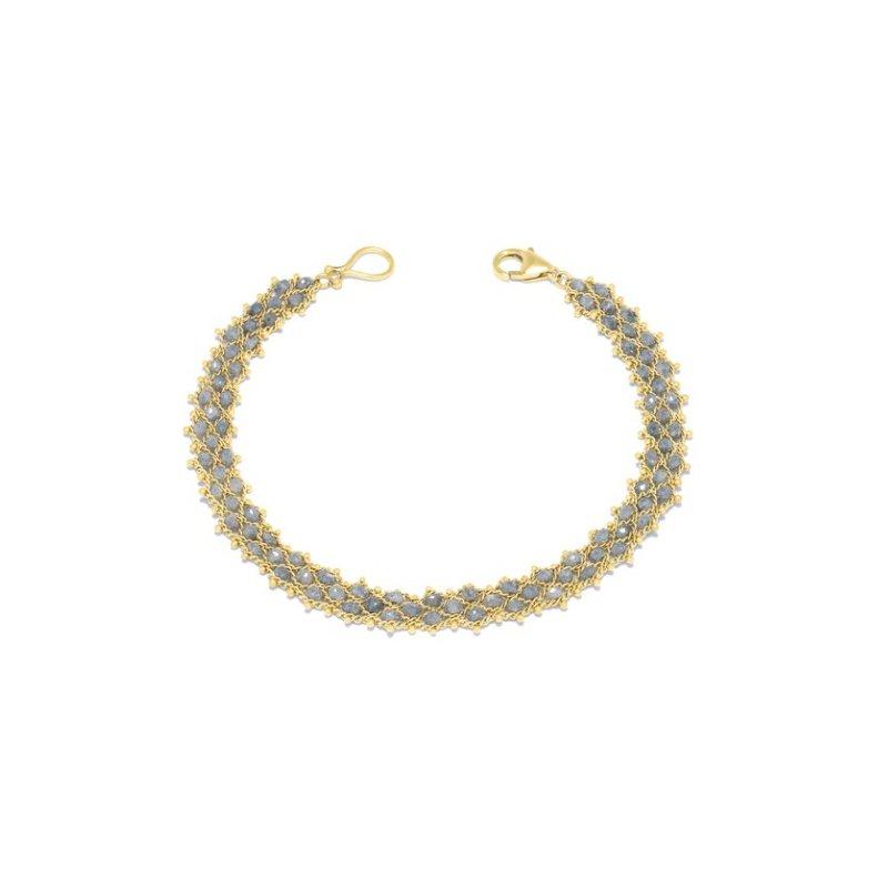 Amali Woven Bracelet in Grey Diamond