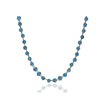 Blue Topaz Textile Necklace