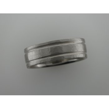 Hammered Double Line Band