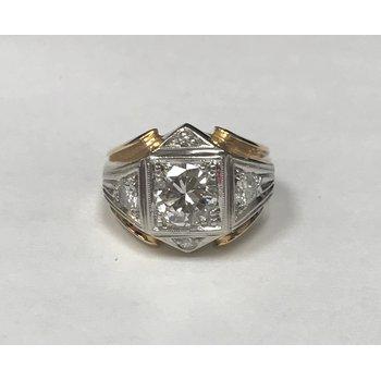 Men's Diamond Two Tone Ring