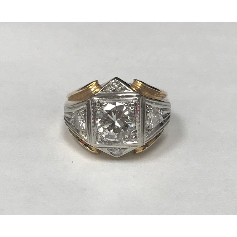 Antique, Estate & Consignment Men's Diamond Two Tone Ring