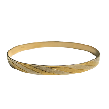 18k Engraved Bangle