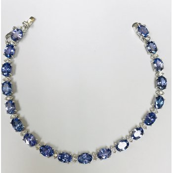 Tanzanite & Diamond Tennis Bracelet