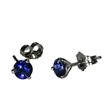 0.75 Carat Sapphire Stud Earrings