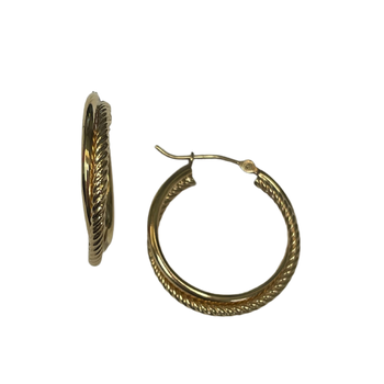 Yellow Gold Braided Hoops