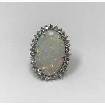 Large Opal Cocktail Ring