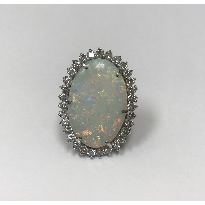 Antique, Estate & Consignment Large Opal Cocktail Ring