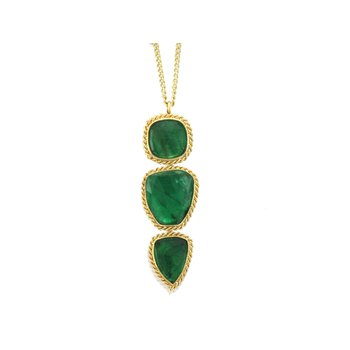 One of a Kind Emerald Drop Necklace