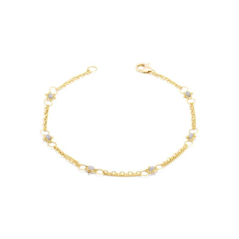 Amali Whisper Chain Bracelet in Silver Diamond