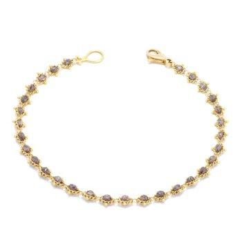 Textile Bracelet in Champagne Diamond