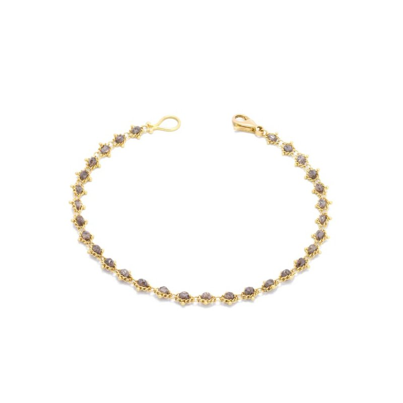 Amali Textile Bracelet in Champagne Diamond