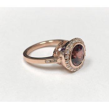 Custom 14k Rose Gold Umba Garnet Ring