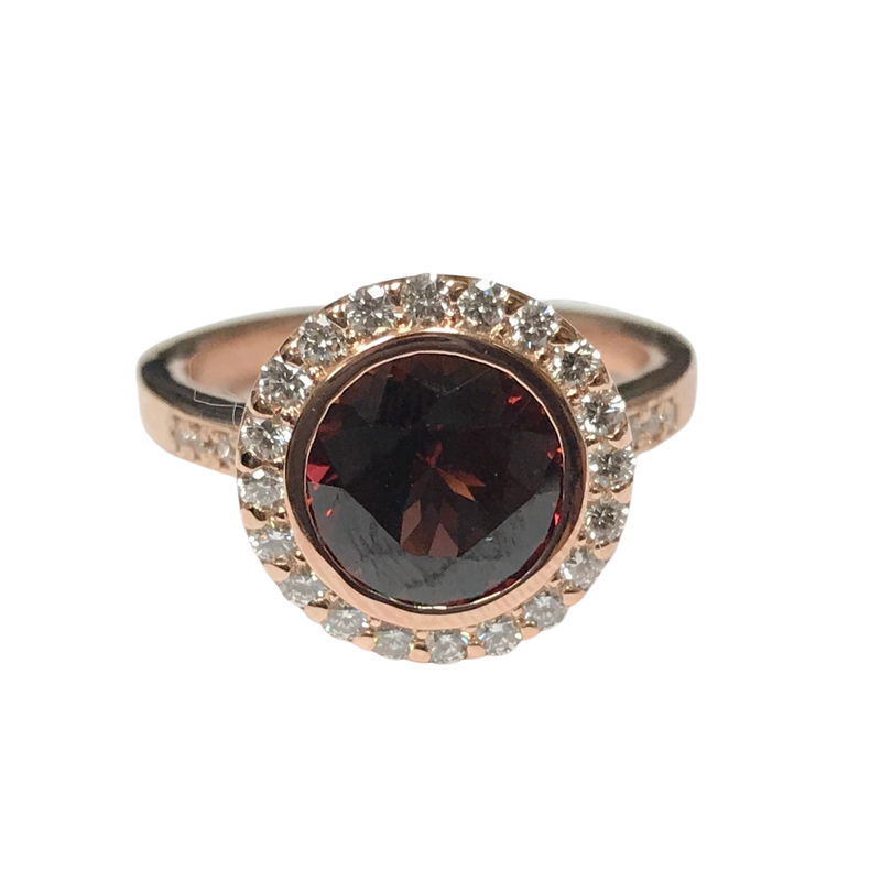 Hurdle's Custom Designs Custom 14k Rose Gold Umba Garnet Ring