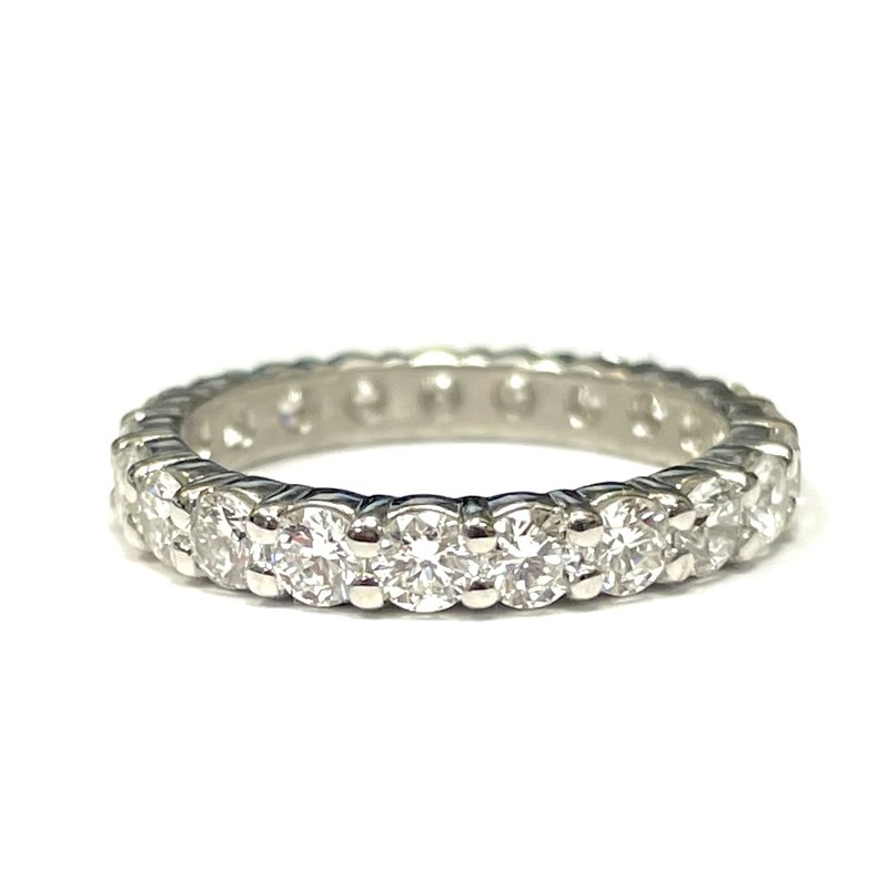Antique, Estate & Consignment Platinum Shared Prong Diamond Eternity Band