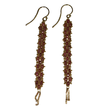 Spinel Woven Drop Earrings